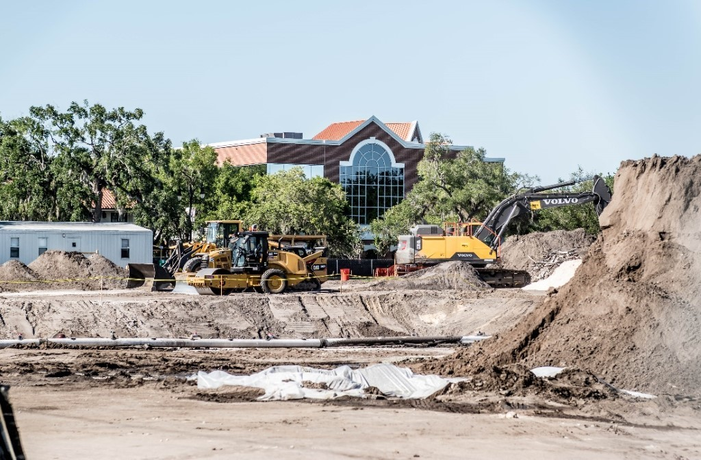 Site of the current Winter Park Library project.