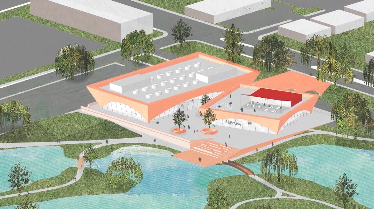 Rendering of new Winter Park Library and Events Center.