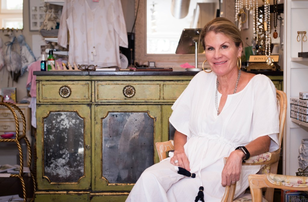 Sue Schneider, manager of Arabella, pictured in her boutique on Morse Boulevard.