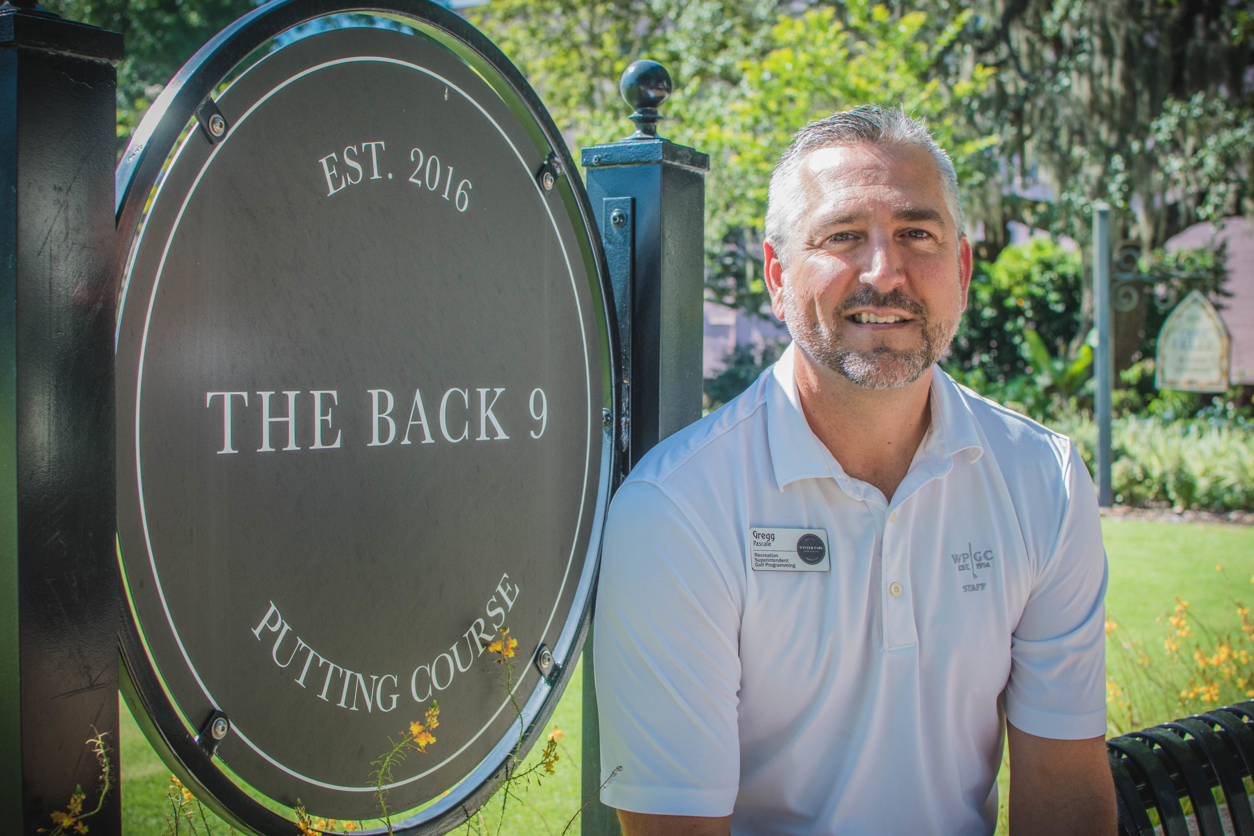 Gregg Pascale pictured at The Back 9 of the Winter Park Golf Course.