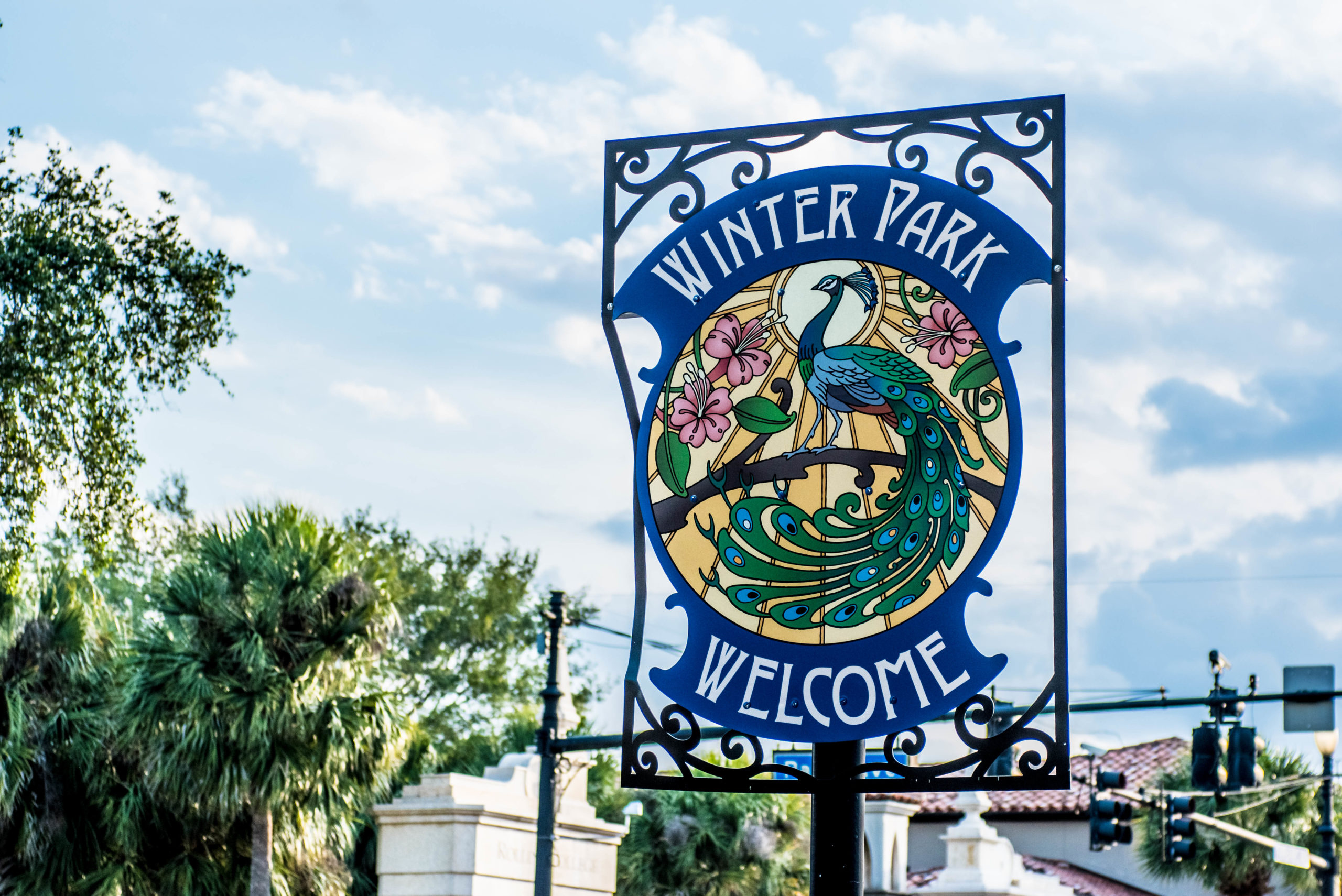 City of Winter Park sign.