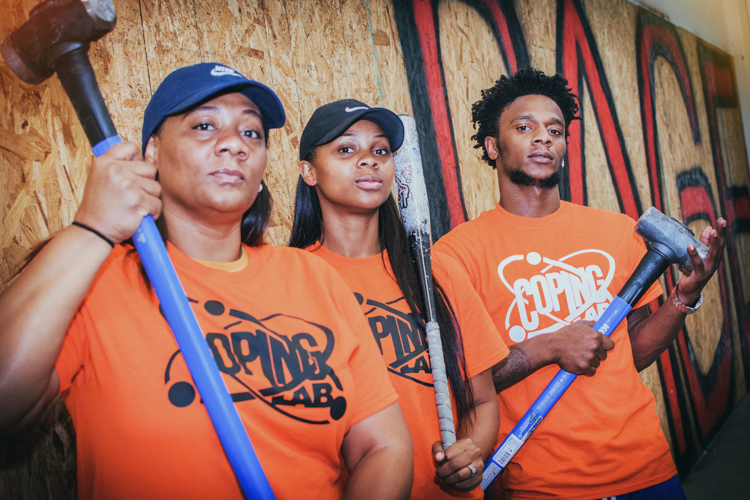 The Melton family, owners of Coping Lab and Rage Room Orlando.