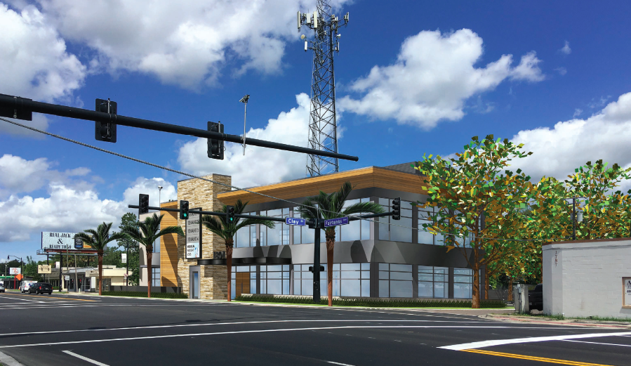 Rendering of the proposed Tracy Office Building along Fairbanks Avenue in Winter Park, Fla.
