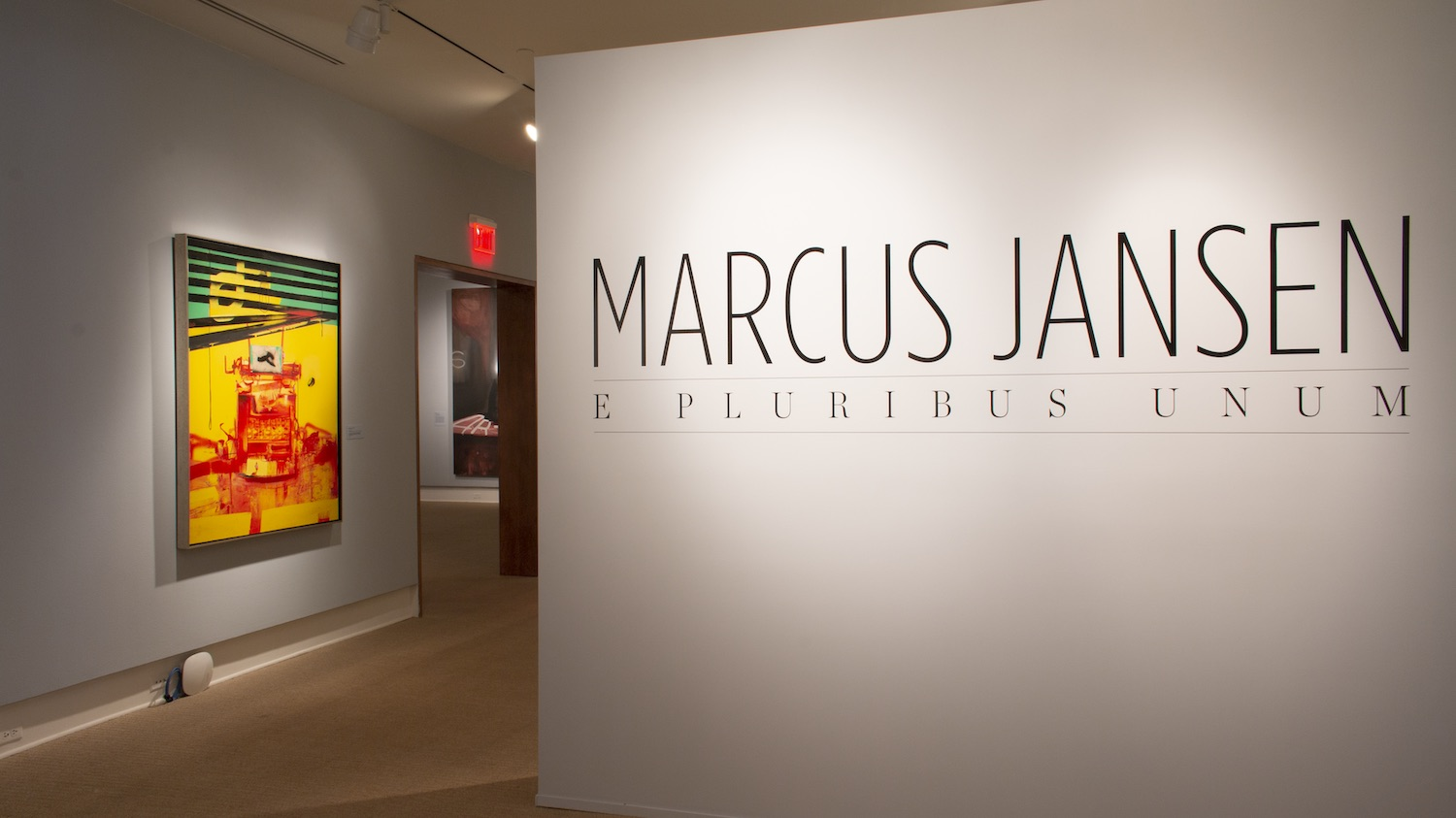 Installation view of Marcus Jansen: E Pluribus Unum exhibition at the Cornell Fine Arts Museum at Rollins College.
