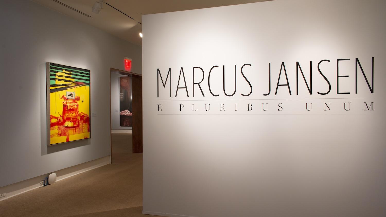 Installation view of Marcus Jansen: E Pluribus Unum exhibition at the Cornell Fine Arts Museum at Rollins College.
