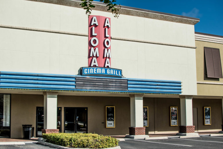 Exterior of Aloma Cinema Grill in Winter Park, Fla.