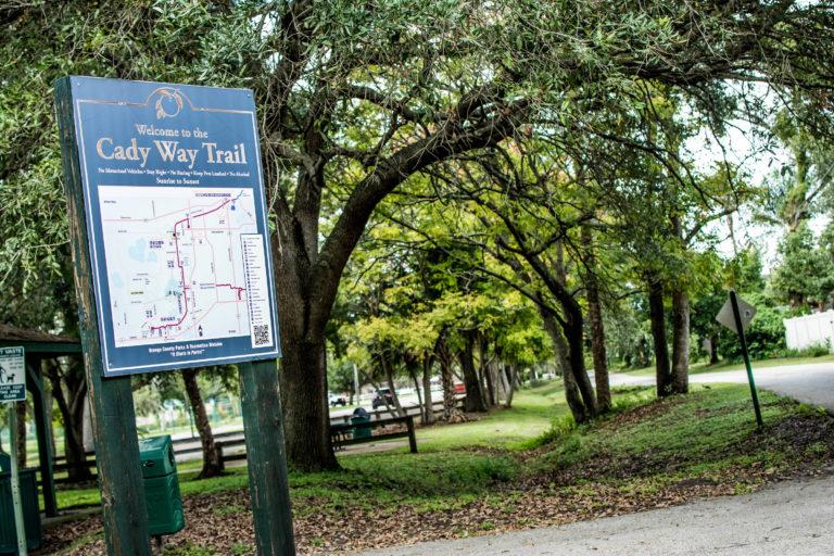 Signage along Cady Way trail.