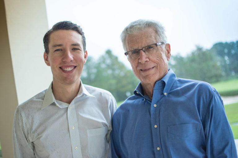 Nicholas Diebel and Dr. Donald Diebel Sr. at Interlachen Country Club in Winter Park, Fla.