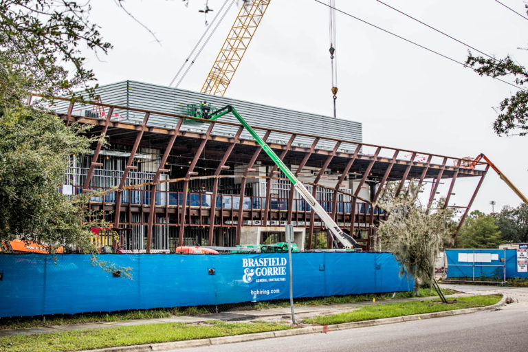 Winter Park Library and Events Center construction site.