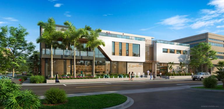 Rendering of proposed Goodlives Wellness Studio.