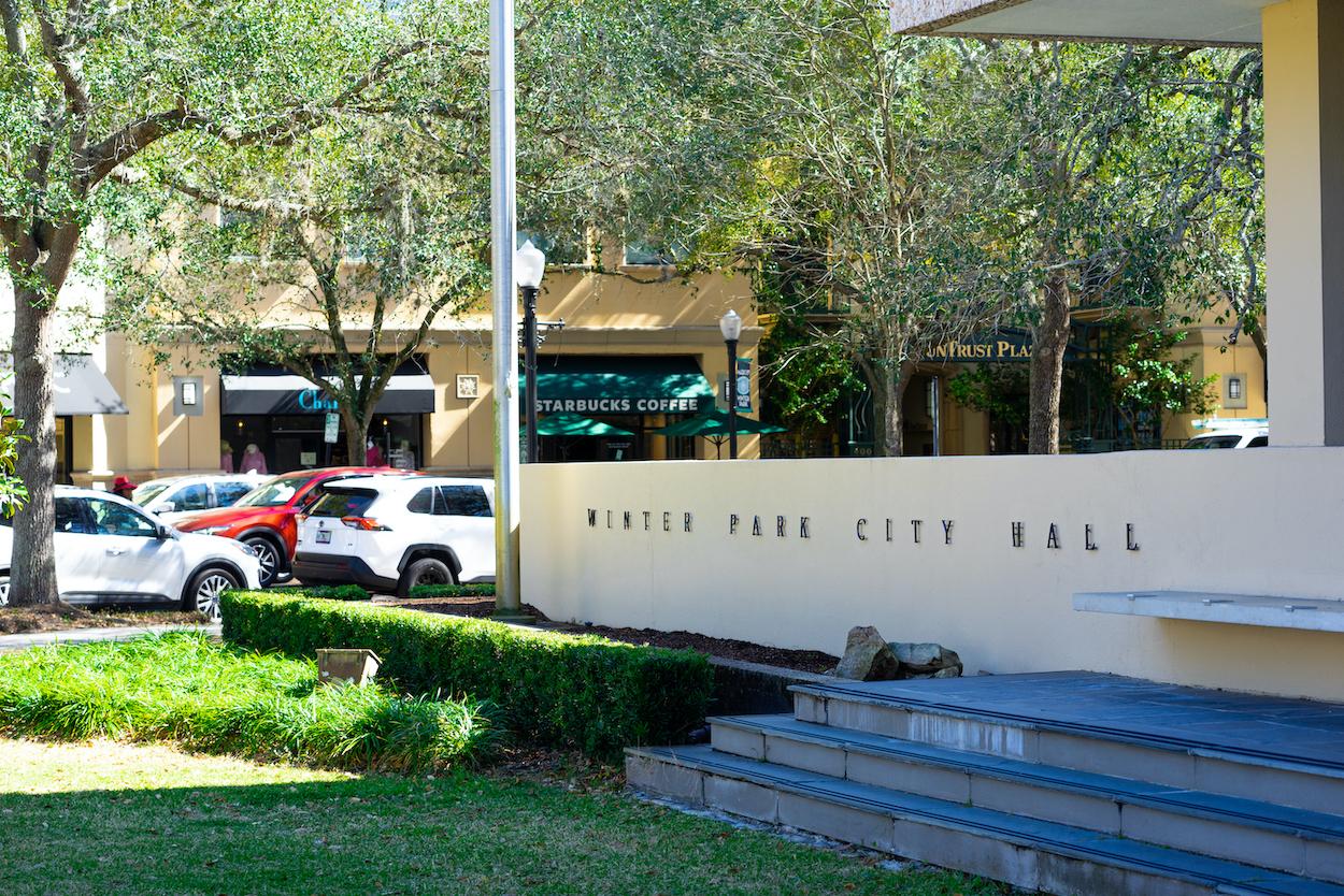 Winer Park City Hall exterior.