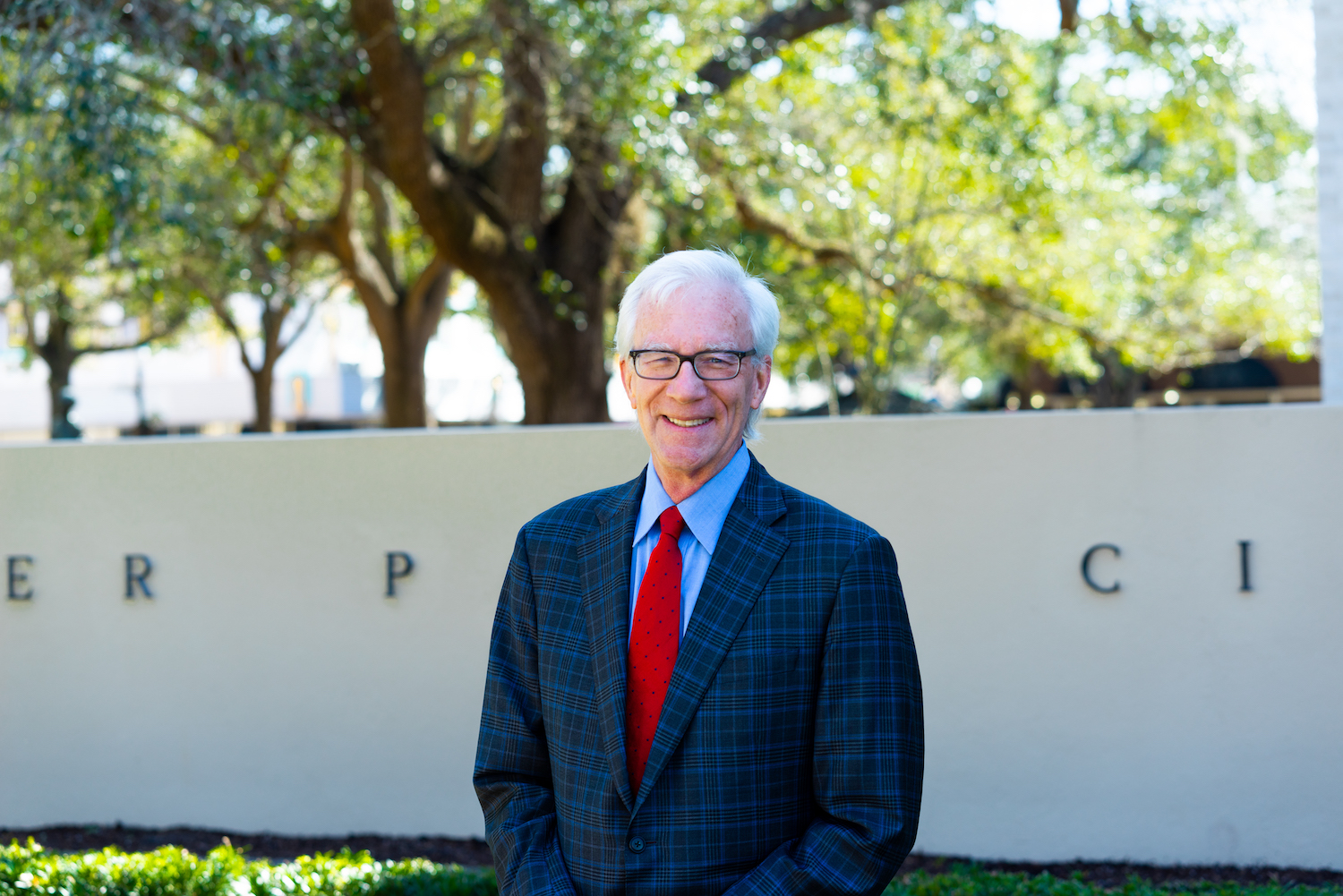 Mayor-Elect Phil Anderson poses in front of City Hall in Winter Park.