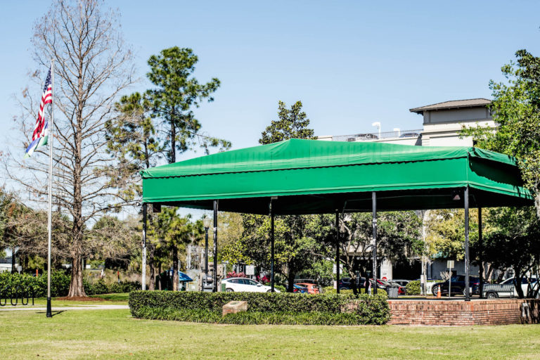 Outdoor stage at Central Park in Winter Park, Fla.