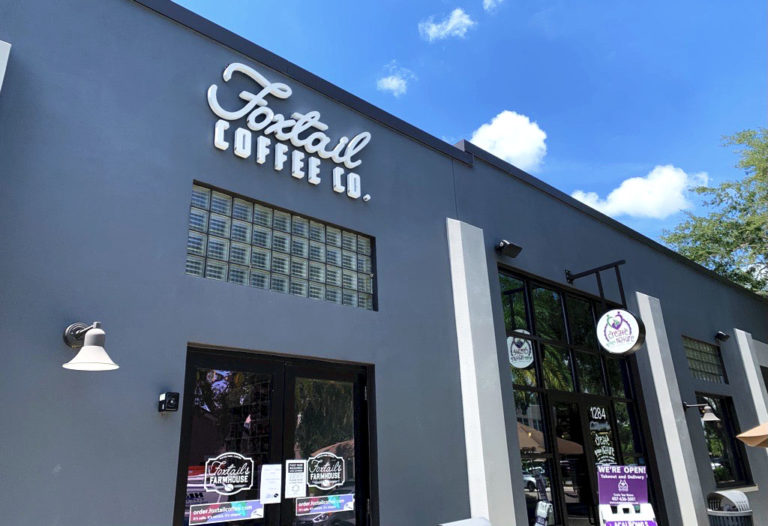 Exterior of Foxtail Coffee Winter Park location.