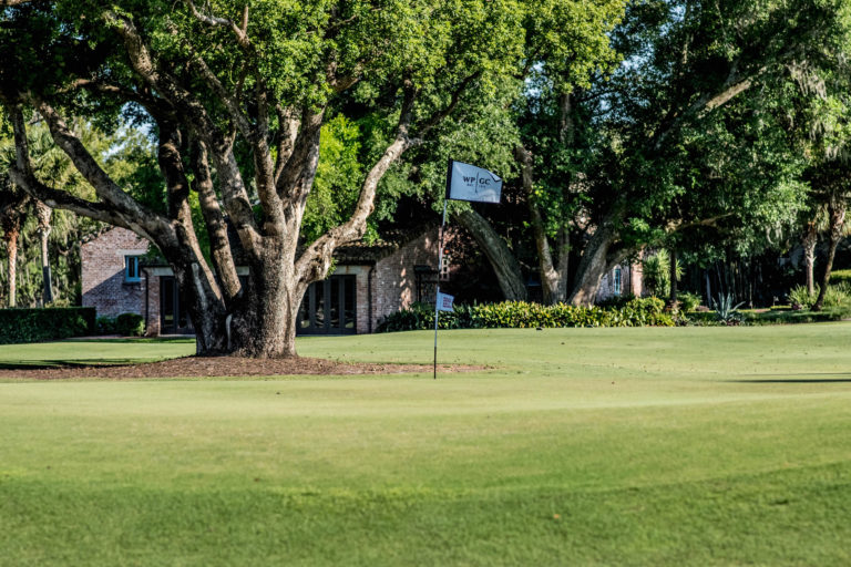 The green at the Winter Park Golf Course.