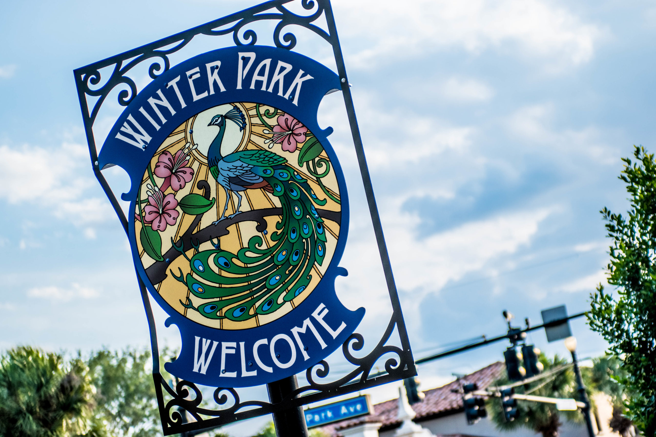 Winter Park Welcome sign.
