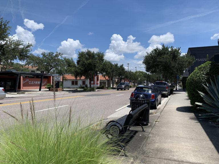 View of Orange Avenue.