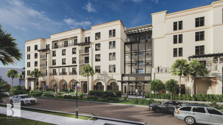 Exterior rendering of The Alfond Inn expansion
