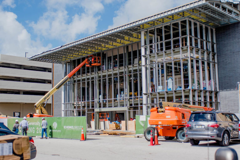Exterior image of The Edyth construction site.
