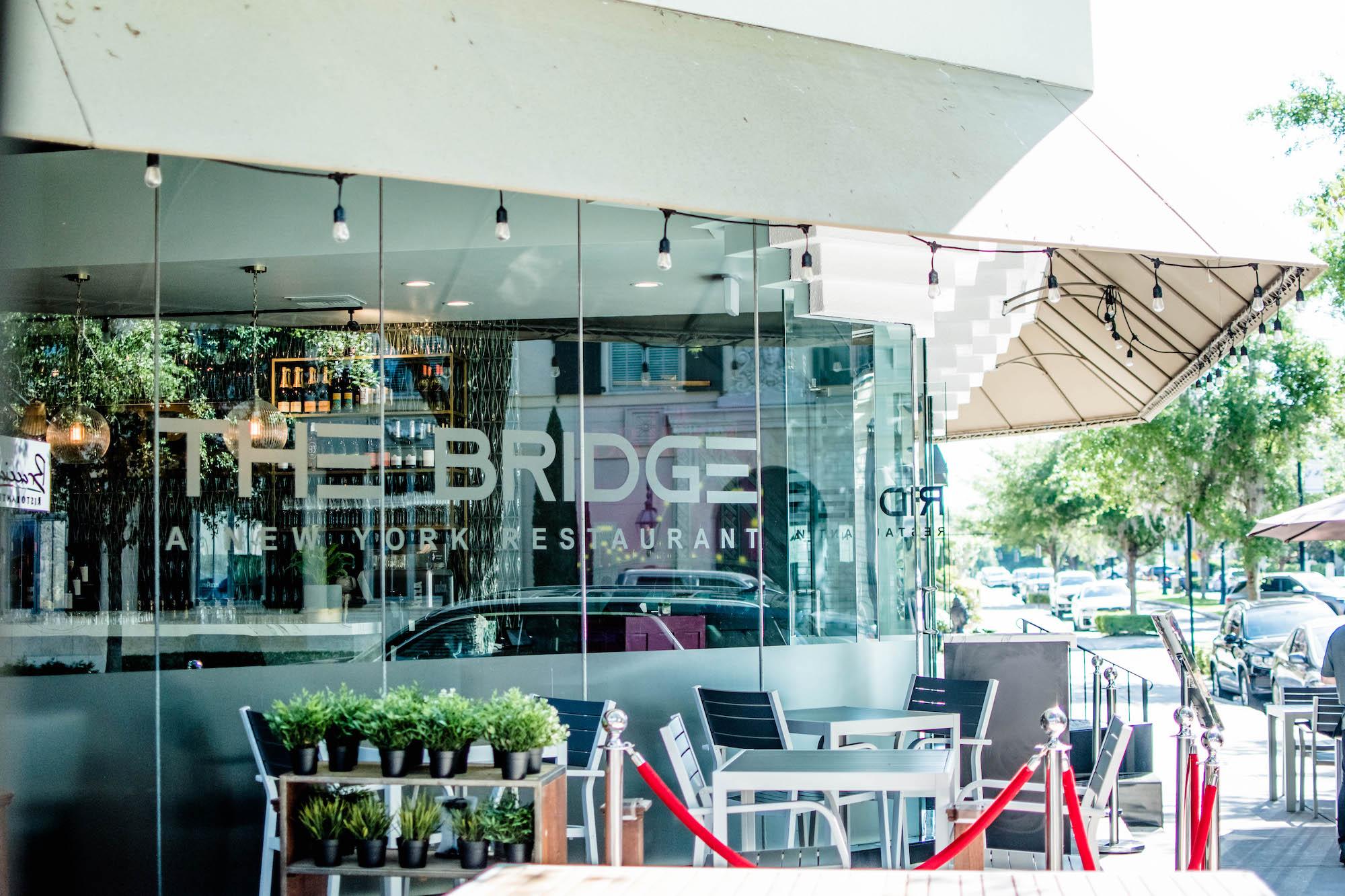 Exterior of The Bridge restaurant in Winter Park.