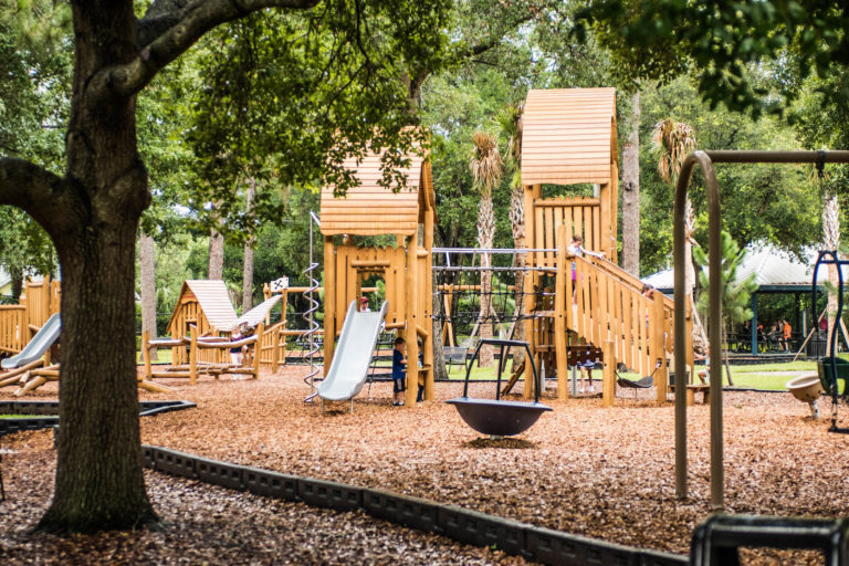 The structure at Phelps Park Playground was replaced