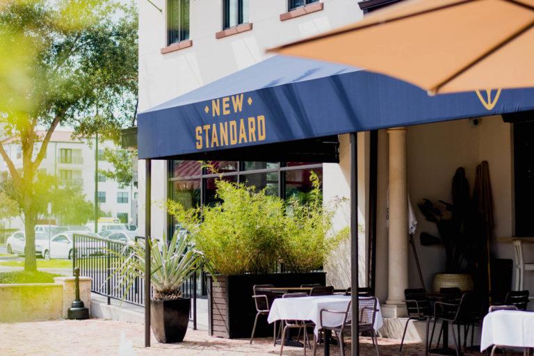 Exterior of The New Standard restaurant in Winter Park.
